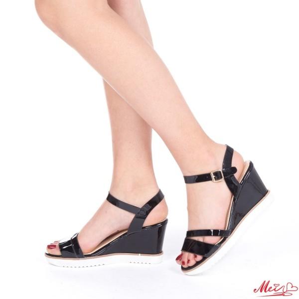 Sandale Dama cu Toc WT165 Black Mei