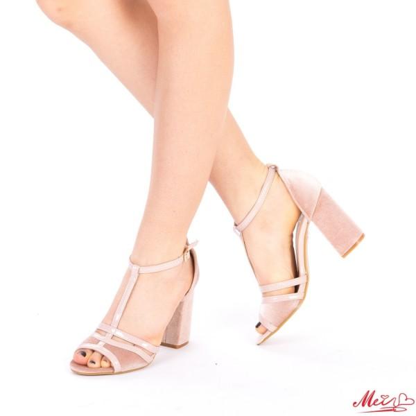 Sandale Dama cu Toc WT168 Nude Mei