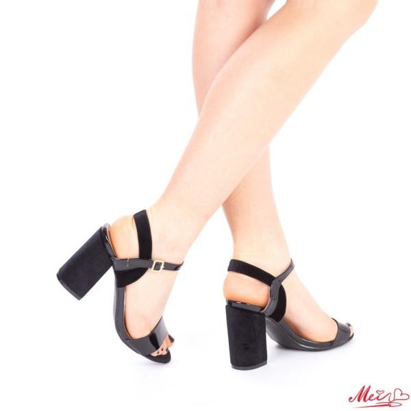 Sandale Dama cu Toc WT169 Black Mei