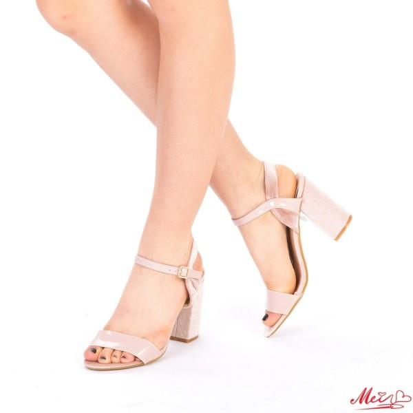 Sandale Dama cu Toc WT169 Nude Mei