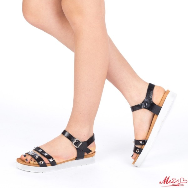 Sandale Dama cu Toc WT17 Black Mei