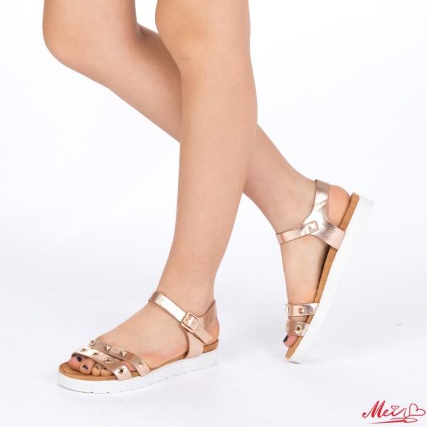 Sandale Dama cu Toc WT17 Champagne Mei