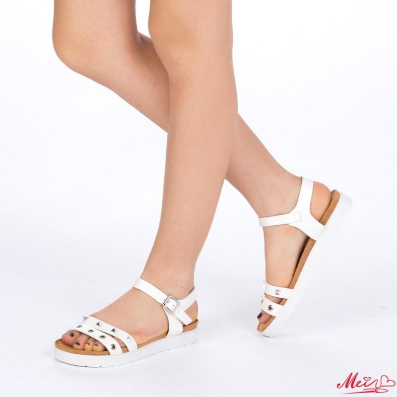 Sandale Dama cu Toc WT17 White Mei