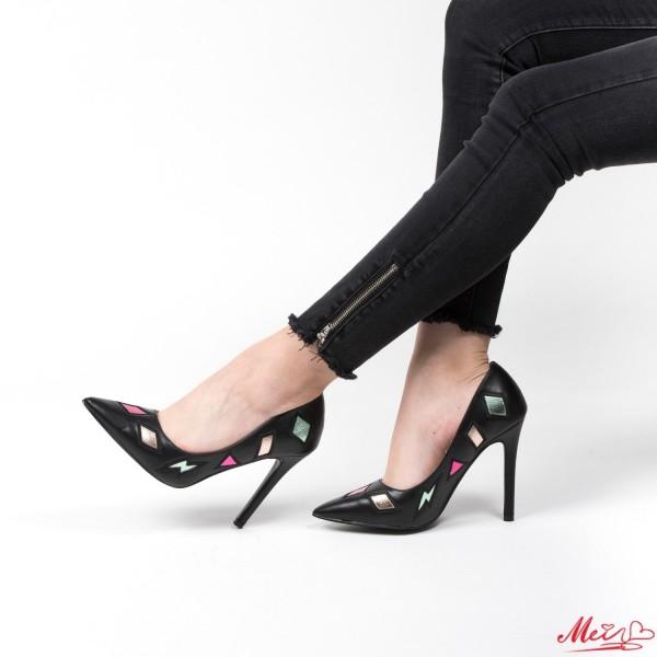 Pantofi cu Toc WT183 Black Mei