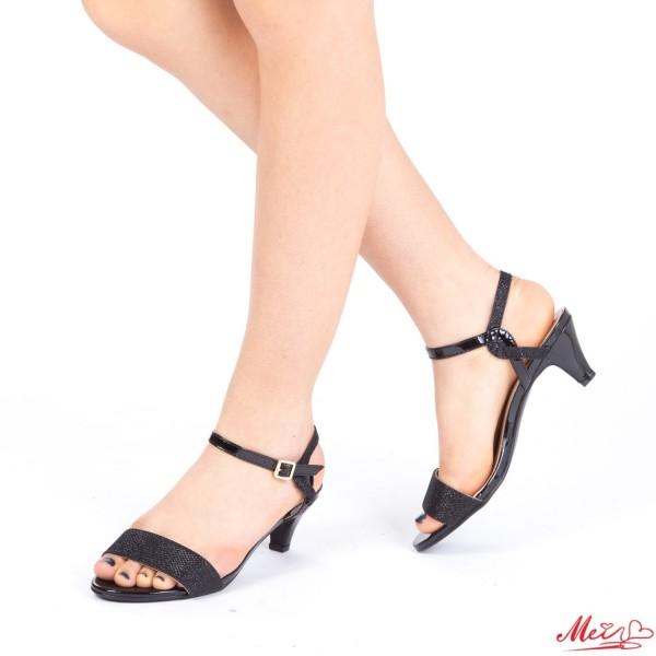 Sandale Dama cu Toc WT22 Black Mei