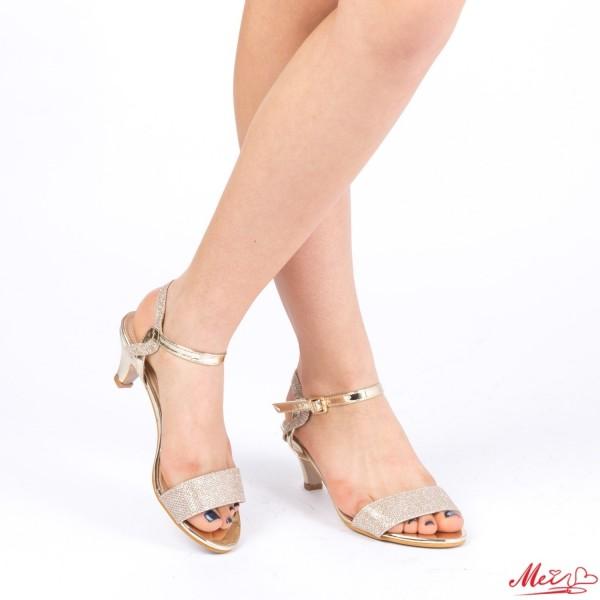 Sandale Dama cu Toc WT22 Gold Mei