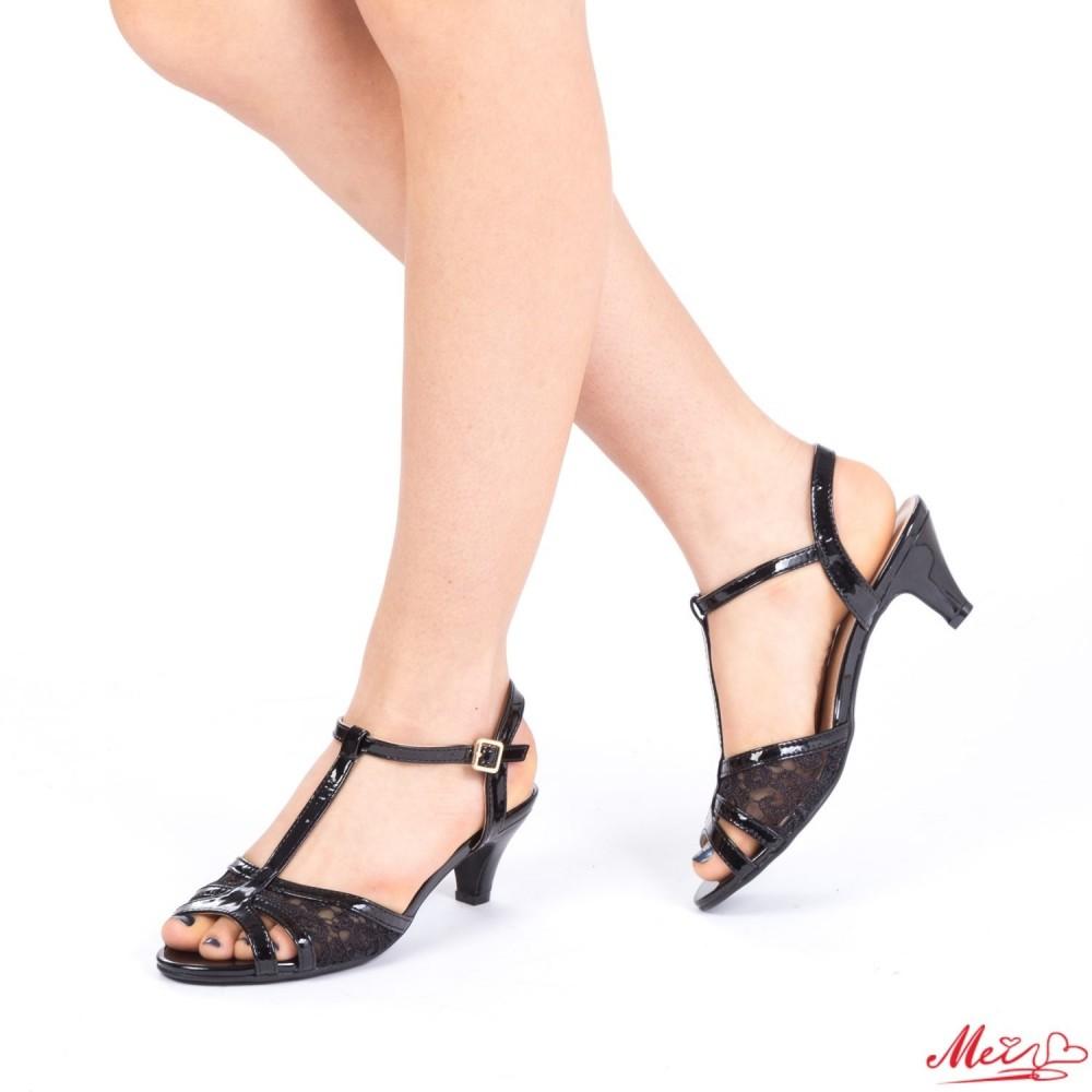 Sandale Dama cu Toc WT23 Black Mei