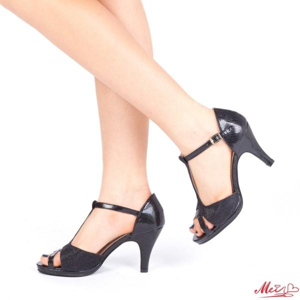 Sandale Dama cu Toc WT27 Black Mei