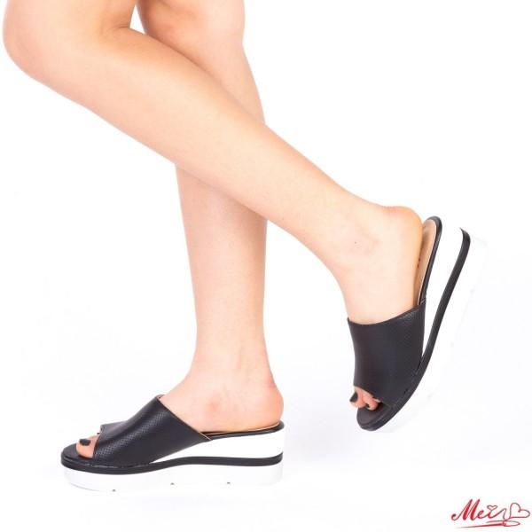 Papuci Dama cu Platforma WT36 Black Mei