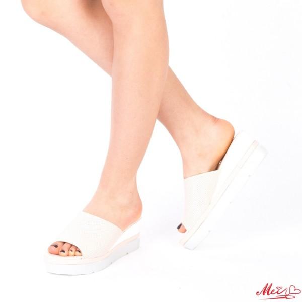 Papuci Dama cu Platforma WT36 Nude Mei