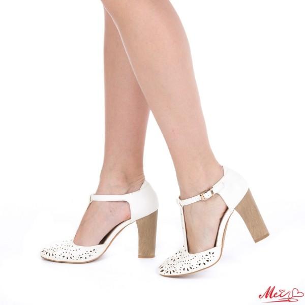 Sandale Dama cu Toc WT59 White Mei