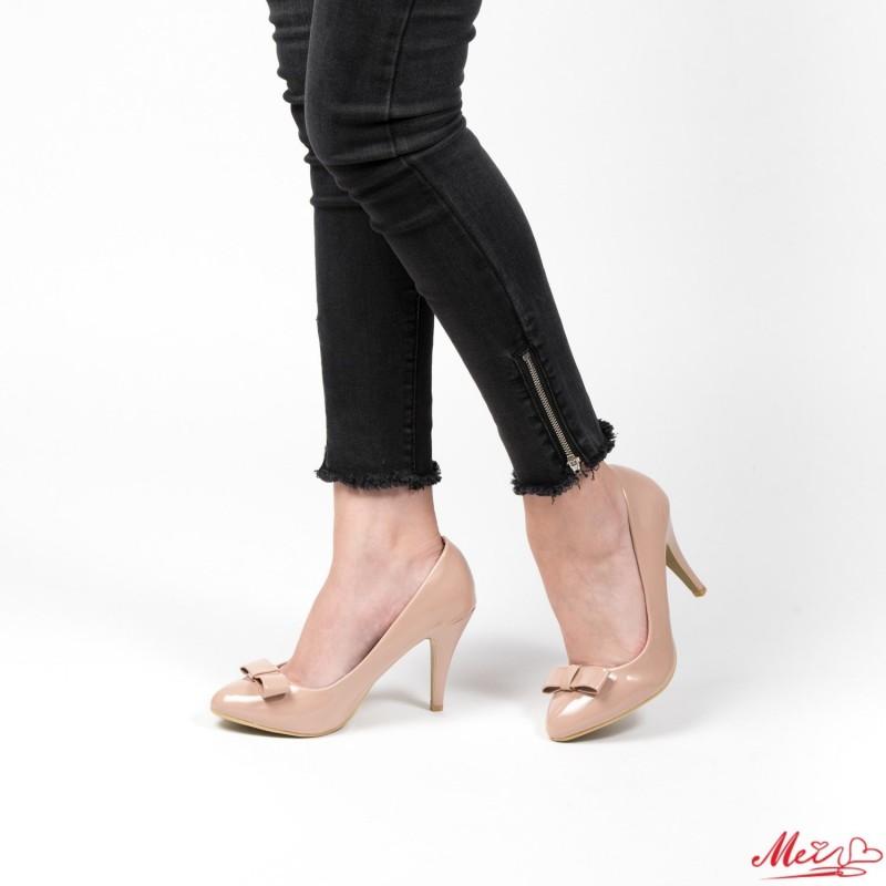 Pantofi cu Toc WT67 Beige Mei