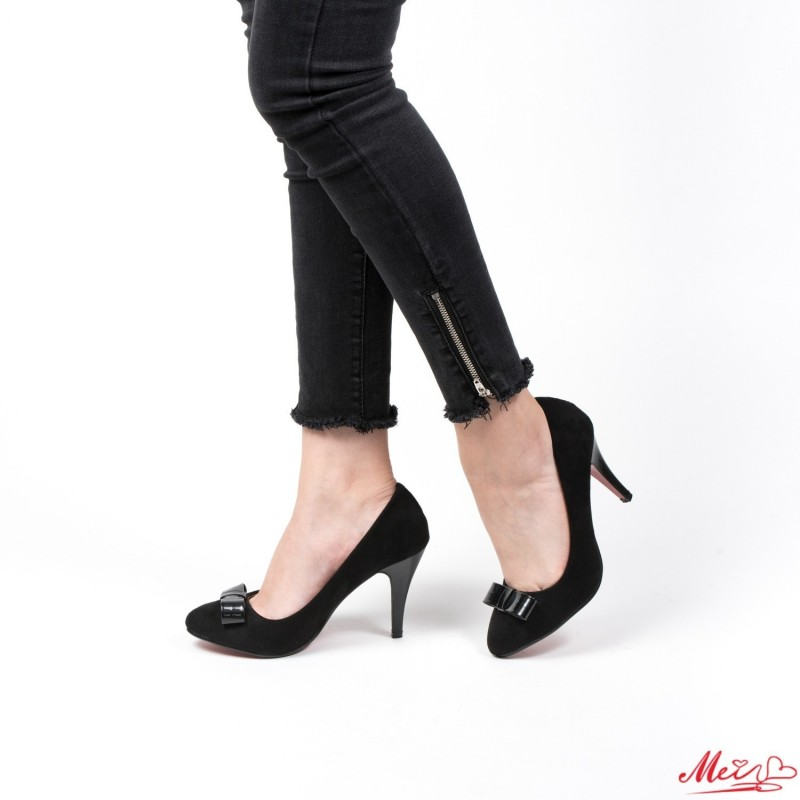 Pantofi cu Toc WT67A Black Mei
