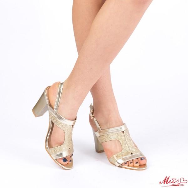 Sandale Dama cu Toc WT83A Gold Mei