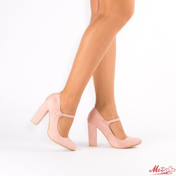 Pantofi cu Toc XD18 Pink Mei