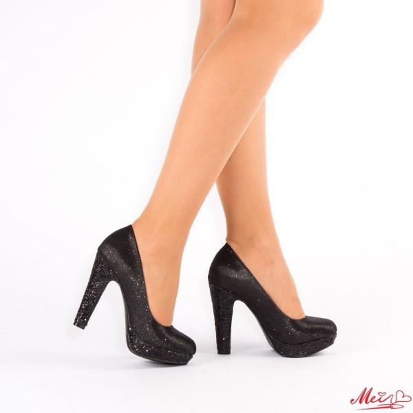 Pantofi cu Toc si Platforma XD25 Black Mei