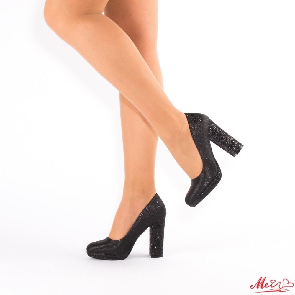 Pantofi cu Toc XD27 Black Mei