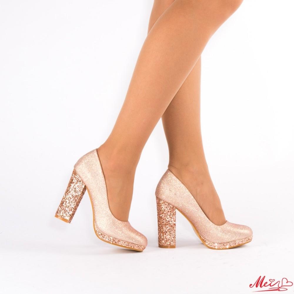 Pantofi cu Toc XD27 Champagne Mei