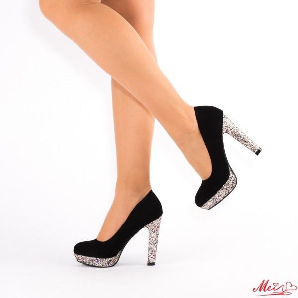 Pantofi cu Toc si Platforma XD29 Gold Mei