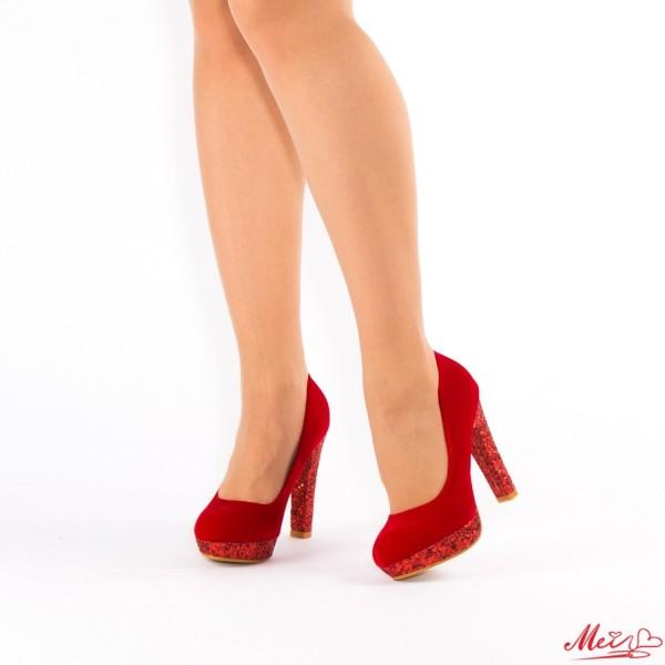 Pantofi cu Toc si Platforma XD29 Red Mei