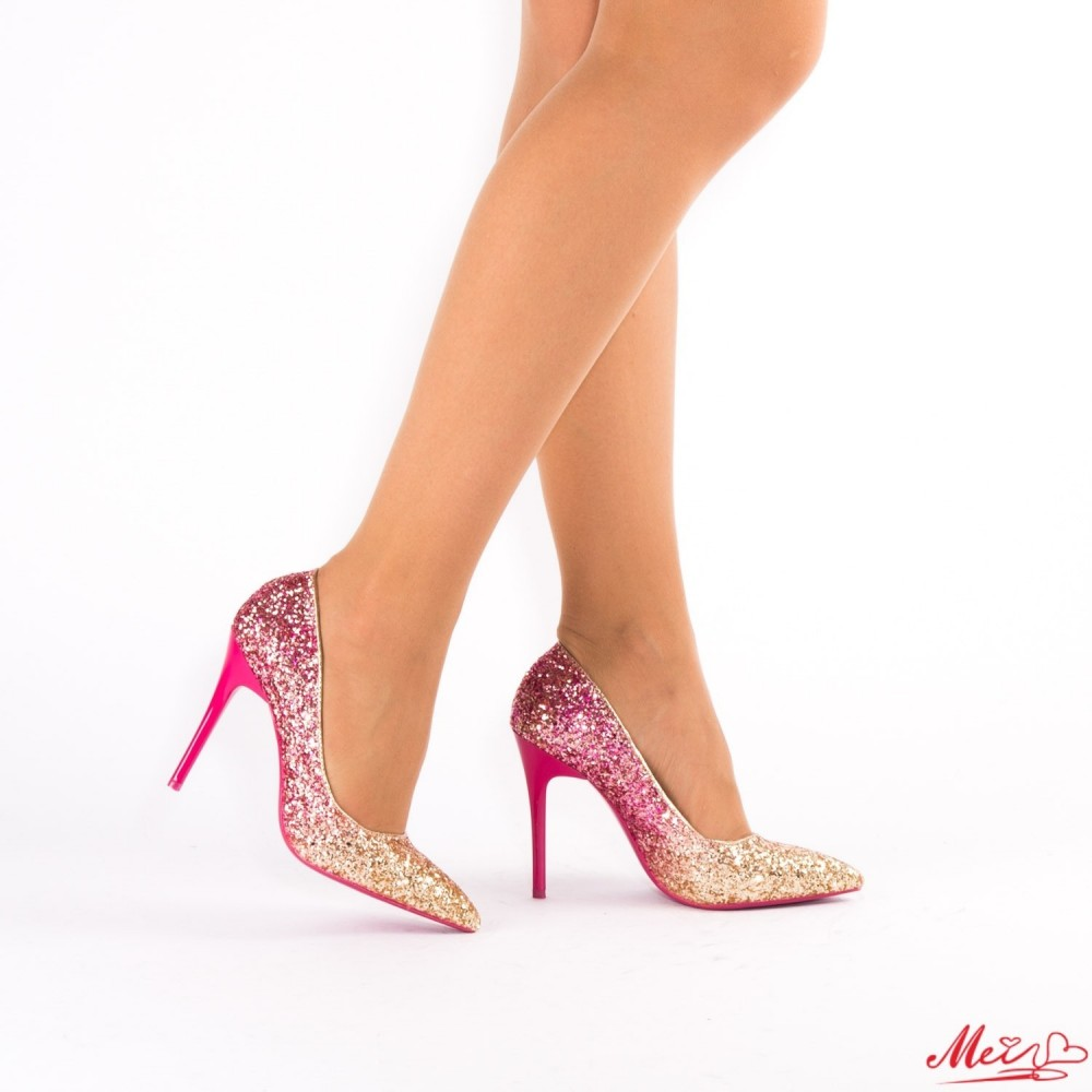 Pantofi cu Toc XD32 Fuchsia Mei