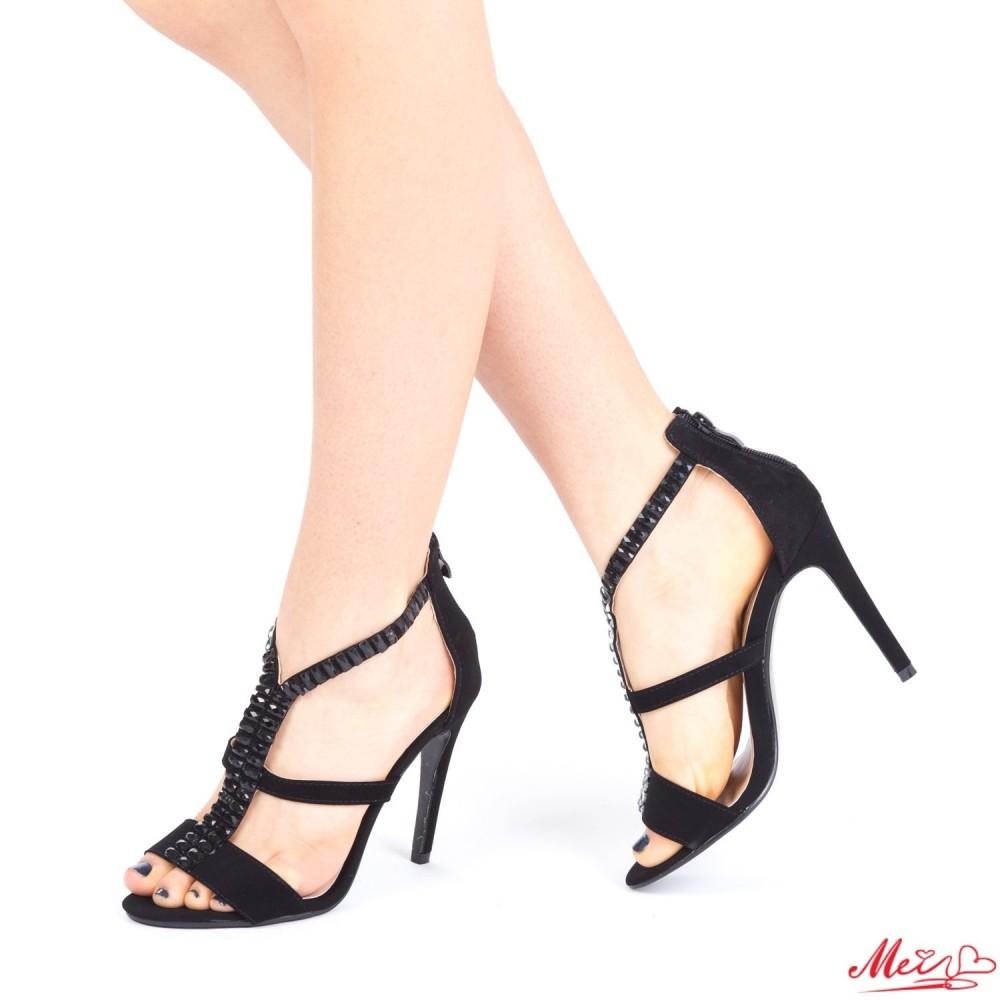 Sandale Dama cu Toc XD60 Black Mei