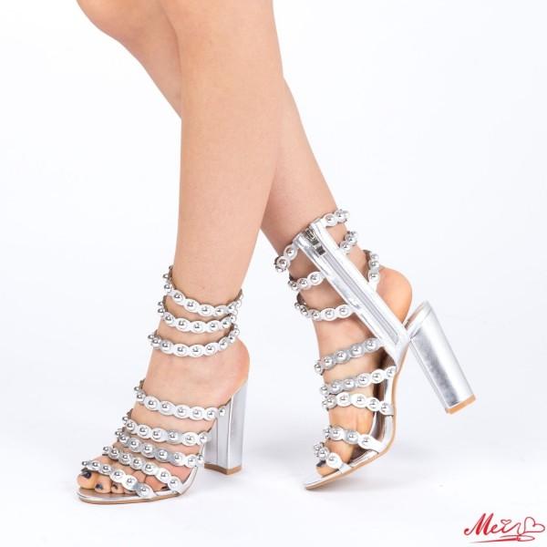Sandale Dama cu Toc XD66 Silver Mei