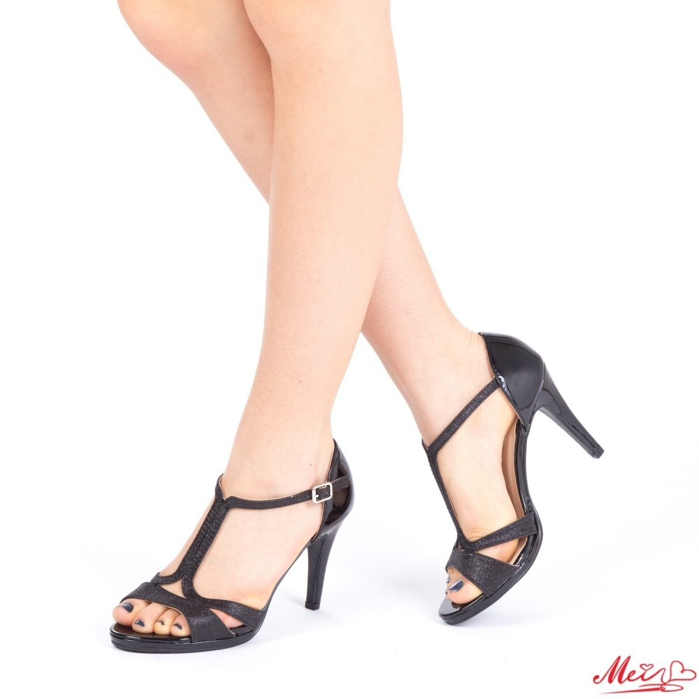 Sandale Dama cu Toc XD71 Black Mei