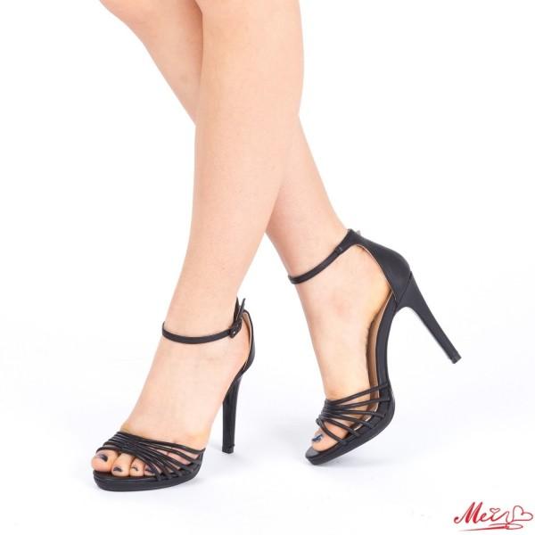 Sandale Dama cu Toc XD72 Black Mei