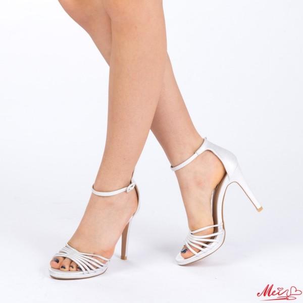 Sandale Dama cu Toc XD72 Silver Mei
