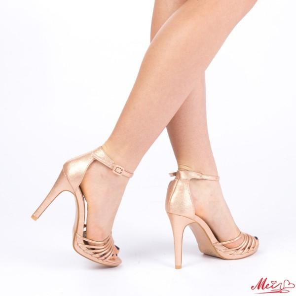 Sandale Dama cu Toc XD72 Champagne Mei
