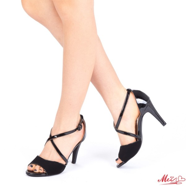 Sandale Dama cu Toc XD75 Black Mei