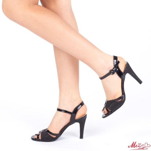 Sandale Dama cu Toc XD76 Black Mei
