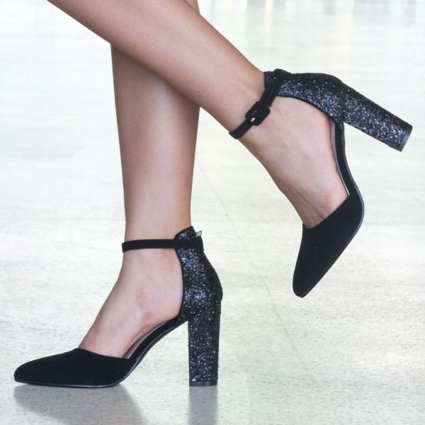 Pantofi cu Toc XD86 Black Mei