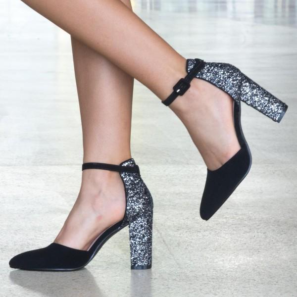Pantofi cu Toc XD86 Guncolor Mei