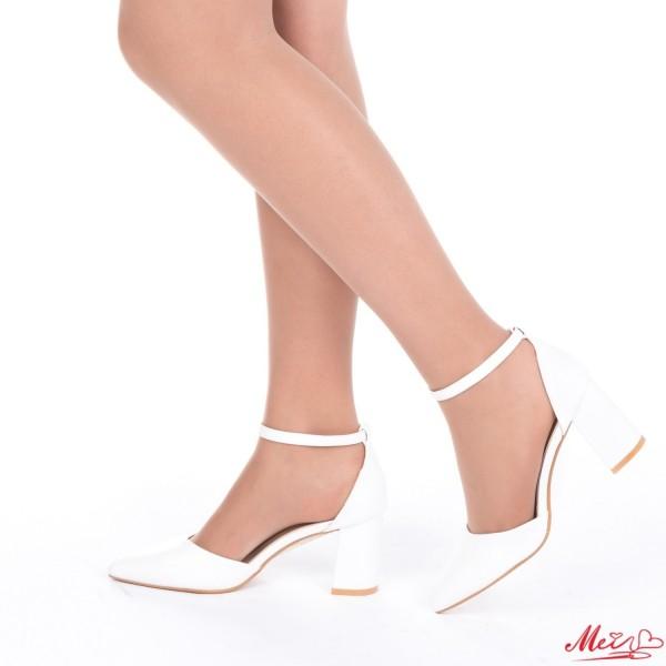 Pantofi cu Toc XD88 White Mei