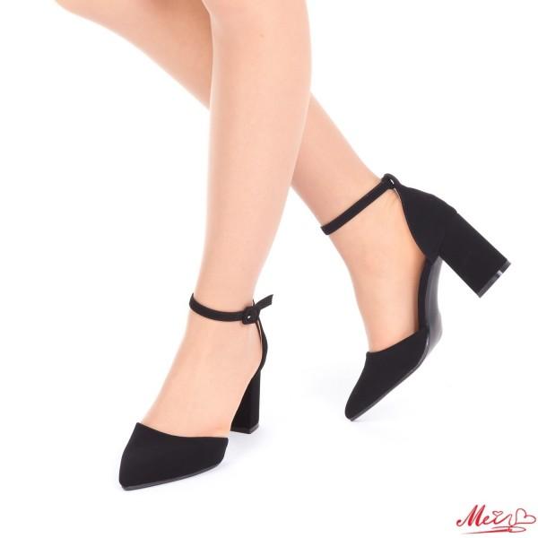 Pantofi cu Toc XD88A Black Mei