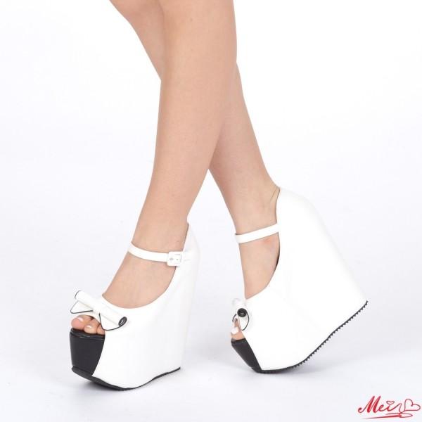 Sandale Dama cu Platforma XJ25 White Mei