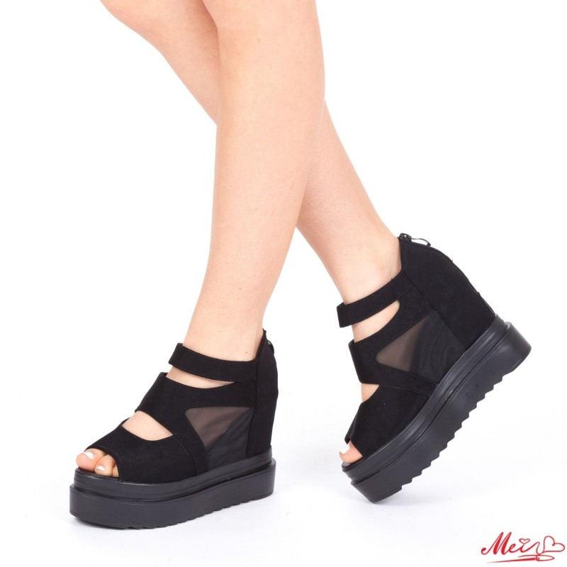 Sandale Dama cu Platforma XJ31 Black Mei
