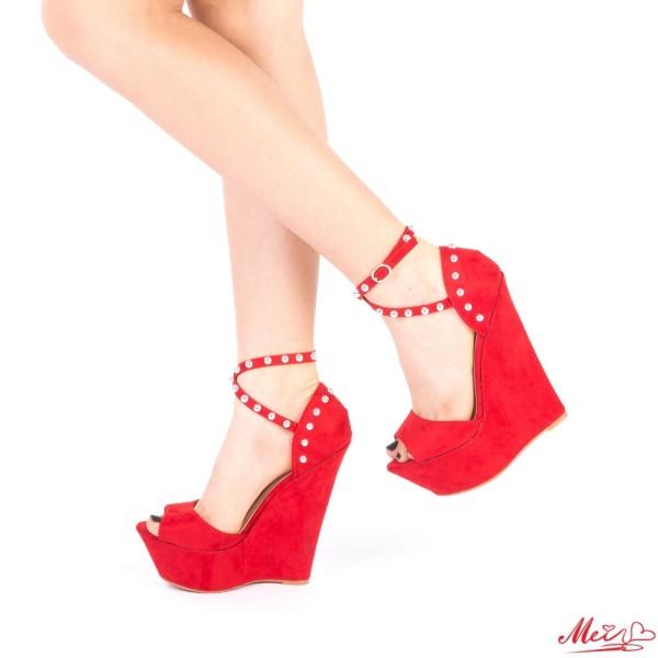 Sandale Dama cu Platforma XKK101 Red Mei