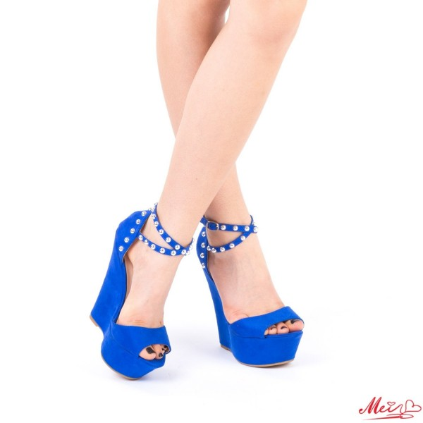 Sandale Dama cu Platforma XKK101 Blue Mei