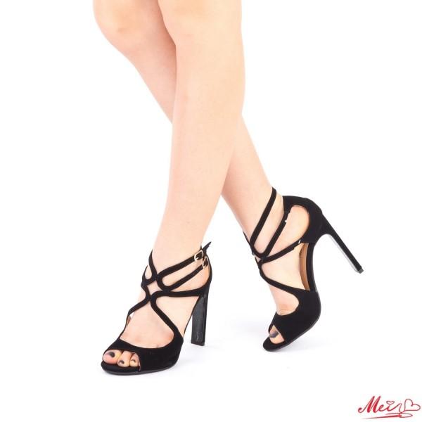Sandale Dama cu Toc XKK102 Black Mei