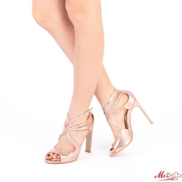 Sandale Dama cu Toc XKK102 Champagne Mei