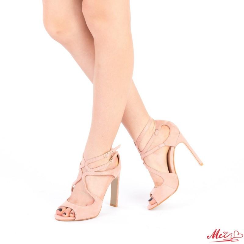 Sandale Dama cu Toc XKK102 Pink Mei