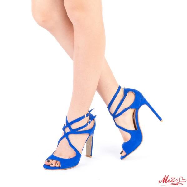 Sandale Dama cu Toc XKK102 Blue Mei