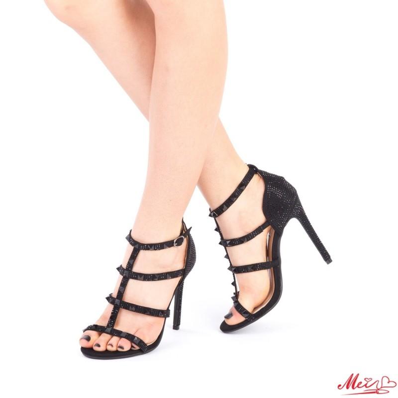 Sandale Dama cu Toc XKK103 Black Mei