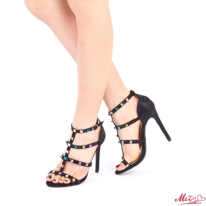 Sandale Dama cu Toc XKK103 Multicolor Mei
