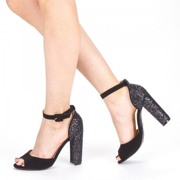 Sandale Dama cu Toc XKK110 Black Mei