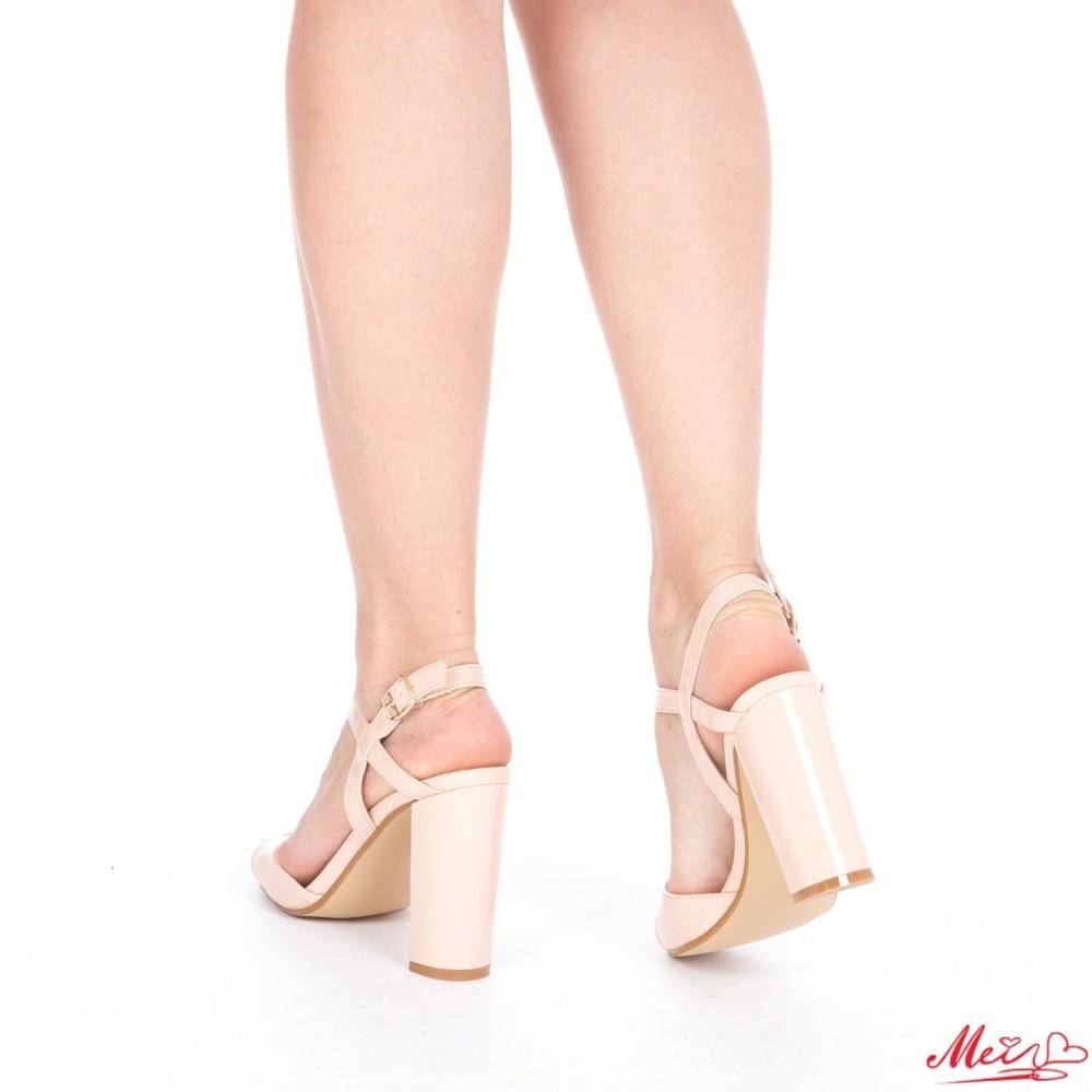 Sandale Dama cu Toc XKK20 Nude Mei