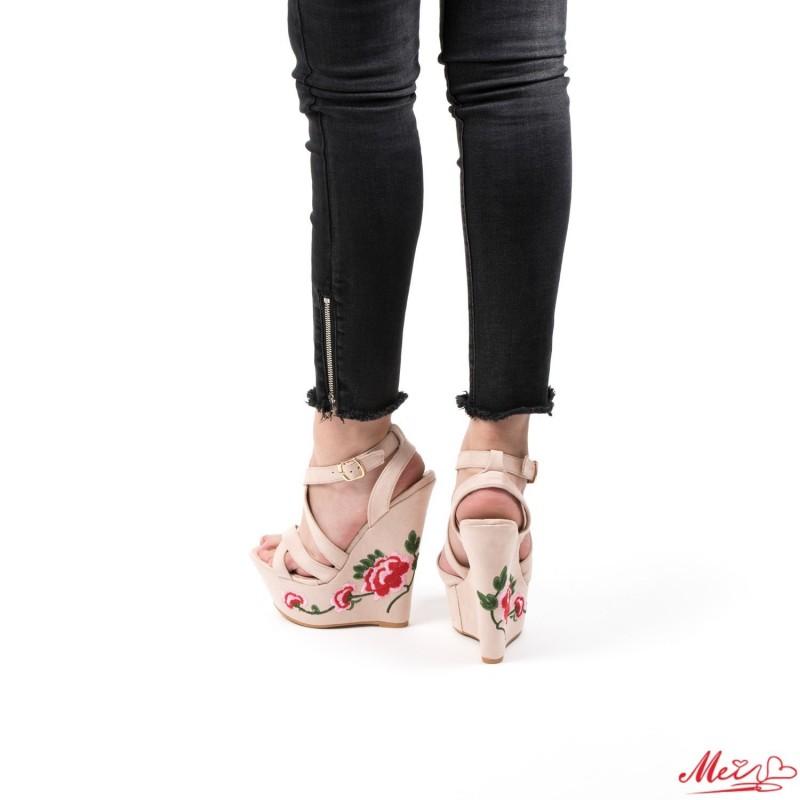 Sandale Dama cu Platforma XKK28 Nude Mei